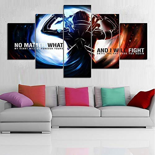 artwu Sword Art Online Poster Wall Art Home Wall Decorations for Bedroom Living Room Oil Paintings Canvas Prints -570 (Unframed)