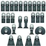 26 x TopsTools UNKA26A Mix lame per Multi-strumenti Fein Multimaster, Bosch, Makita, Milwaukee, Einhell, Ergotools, Hitachi, Parkside, Ryobi, Worx Workzone Utensile multiuso con accessori