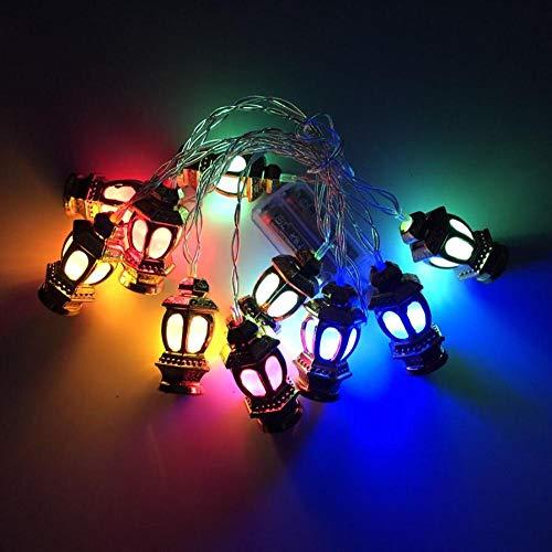 Beiaidi 10 20 LED Ramadan Olielantaarn Fee lichtketting batterij aangedreven Golden Palace lantaarn Halloween Party Bruiloft Kerstboom Fee snoer Garland Multiclor 3M 20 LED batterij
