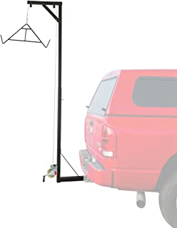 Big Game Deer Fixed Hitch Mount 300 lb Winch Irrigating Hoist with Lift Gambrel