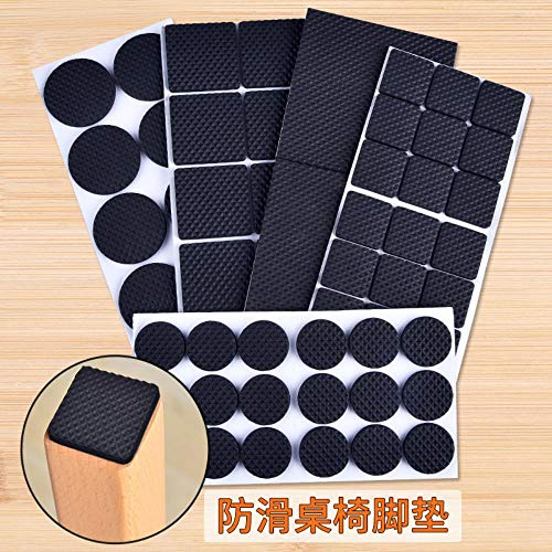 APOO High Viscosity Quality Chair Furniture Protection Felt Pad Freely Crop Stickers Cut Furniture Hardwood Non-Slip Floors Protect,Black