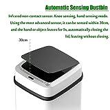 Dyna-Living Sensor Mülleimer Küche Bad 10L, Sensor Automatik Abfalleimer mit Geruchdichtem Deckel - 7