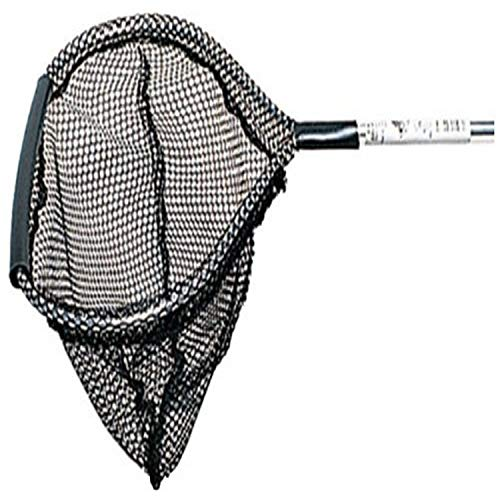 Beckett Corporation Fish Net with Long Handle - Pond Netting for Fish Tanks, Koi Ponds, Aquariums, and Small Ponds, Black