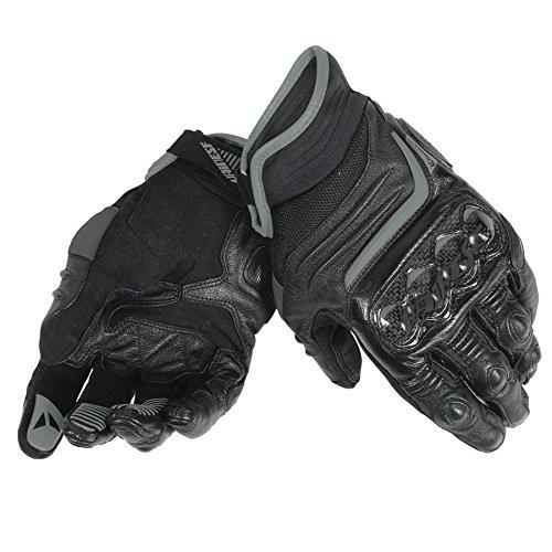 Dainese-CARBON D1 SHORT Handschuhe, Schwarz/Schwarz/Schwarz, Größe XL