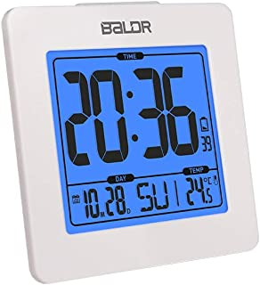 Baldr Digital Alarm Clock – Easy to Read, Simple to Set Up – Battery Operated..