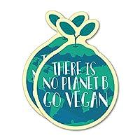 2X There is No Planet B Go Vegan Sticker Decal Vegan Vegetarian Food Laptop