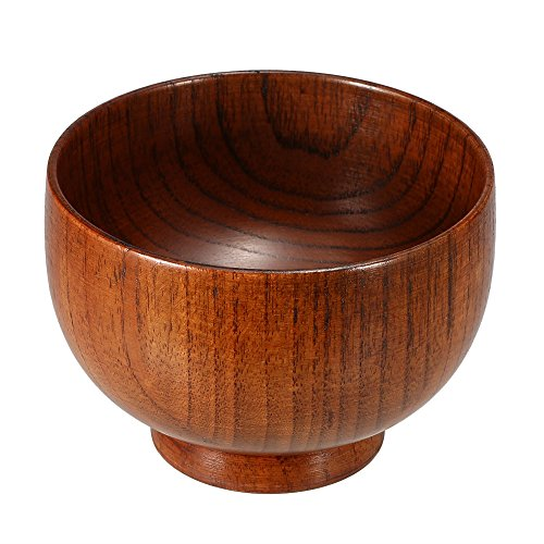 Rasierschüssel, Anself Rasierschale aus Holz 9,5 x 6,5 cm, Holz Rasierschaumschüssel Herren Rasur Seifenschale Seifenschüssel, Männer Geschenk des