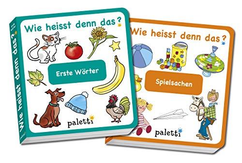 Wie heisst denn das? Kinderbücher 2er Set Pappbuch Erste Wörter und Spielsachen