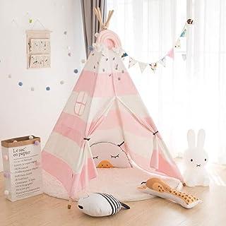 Barn tipi tält för barn, duk tält leksak lekstuga Boy Toy House Princess Castle, lämplig för inomhus- och utomhustält (fle...