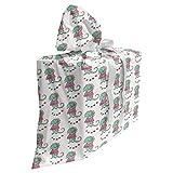 ABAKUHAUS Gecko Sac Cadeau pour Fête Prénatale, Lizard Princess Dress, Pochette en Tissu Réutilisable de Fête avec 3 Rubans, 70 x 80 cm, Burnt Sienna Écume