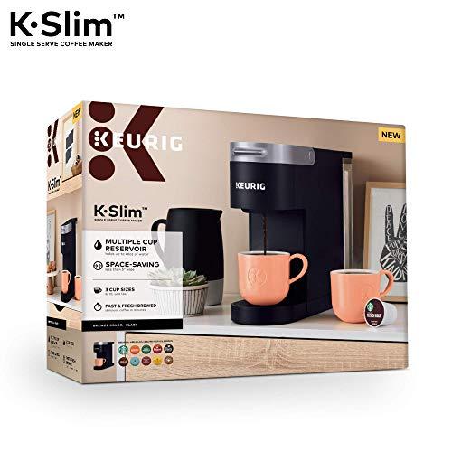 Keurig K-Slim Coffee Maker, Single Serve K-Cup Pod Coffee Brewer, 8 to 12 oz. Brew Sizes, Black