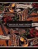 Cahier de partitions: Cahier de musique, Carnet de partitions 13 portées par page pour composer - 100 pages - Grand format - Couverture souple
