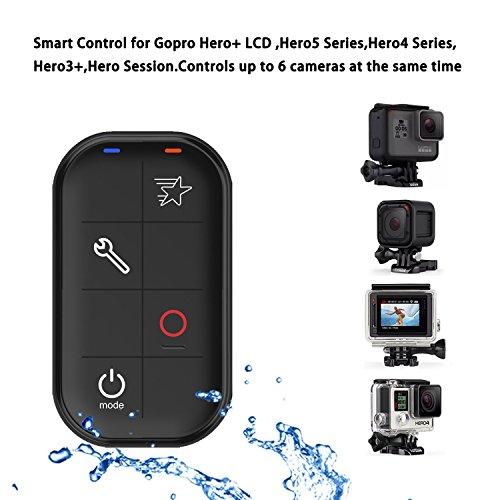COOSA Telecomando Gopro Control Remoto Intelligente Impermeabile a Distanza perGopro Hero+ LCD, Hero 5/4/3 Series senza Fili Impermeabile Smart Remote Distanza Intelligente Telecomando per videocamere