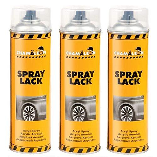 Caméléon 1K Spray Spray Spray Spray Spray Spray 3 x 500 ML Vernis Clair Réparation ACRYL HS