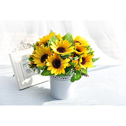 JUYUAN-EU Metall Krone Spitze Blumentopf Stift PinselTopf PinselBehalter Blume Übertopf Halter Decor Lace Hollowpot Weiss