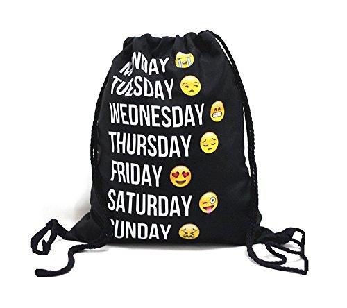 Diseño Amici Super Alla Moda Trendy Turn Bolsa. Bolso de mano Estuche Bolsa de viaje Smiley Impresión Bolsa Bags Mochila Jute Bolsa Hipster fashion Mode Bagpack Emoji–Único.