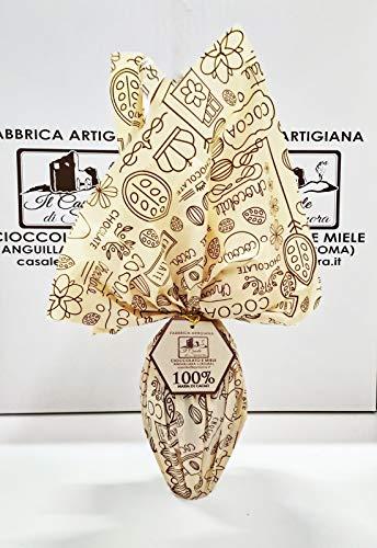Uovo di Pasqua Massa di cacao 100% | GRANDE 300gr | SORPRESA | Cioccolato Artigianale Italiano alta qualità
