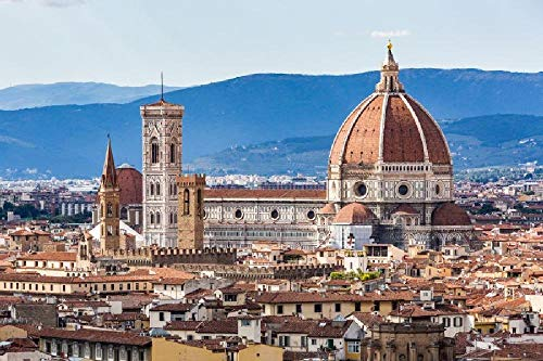 YFJSPTH Puzzle 1000 Teile 2020 Puzzle, Puzzle for Adults, Impossible Puzzle, Colourful Puzzle Game, Skill Game for The Whole Family-Duomo di Firenze