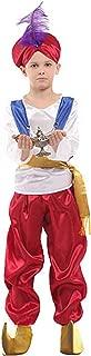 CHECKIN Halloween Aladdin Costume Boys lamp Prince Suit Hat Arabian Prince Cosplay Costume