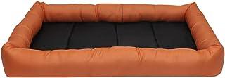 Mellifluous Rectangular Waterproof Washable Metal Crates Fits Sizes for Dog Cat Pet Bed (Large, Orange-Black)