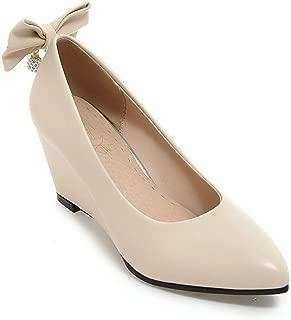 BalaMasa Womens APL12418 Pu Wedge Heels