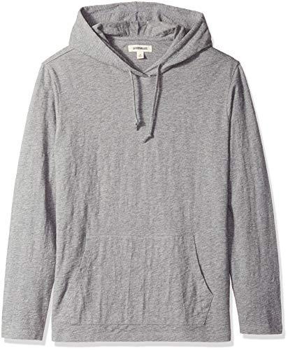 Marca Amazon - Goodthreads – Sudadera con capucha, ligera para hombre, Gris (Heather Grey), US XS (EU XS)