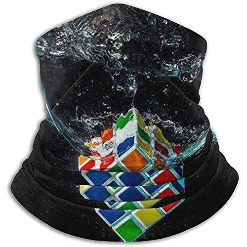 air kong Bufanda Agua Arte Digital Cubos de Rubik Fondos Cool Neck Polaina Diadema mágica Máscara Unisex Pañuelo Invierno Cálido Headwear