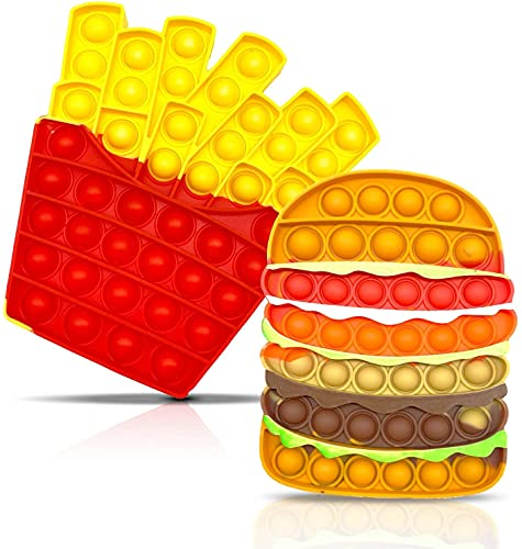 pop it patatine 2 Pack Pop on It Fidget Toys Push Bubble Pop Popping Giocattolo sensoriale Fidget per adulti e bambini