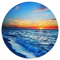 ジグソーパズル1000ピース海サンセットビーチ風景画アート絵画円形パズル