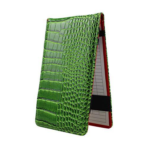 Crestgolf Porta Carte da Golf per Golf Porta Carte da Golf in Pelle e segnapunti da Golf Popolari Porta Carte da Golf per Carte da Tasca per Matita da Golf Gratis(Green)
