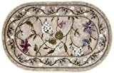 Brumlow Mills Butterfly Floral Area Rug for Kitchen, Dining, Living Room, Bedroom, Doorway Mat or Home Accent Carpet, 30' x 46', Opal