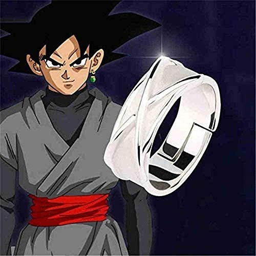 LWH-MOU Dragon Ball Z Time Ring Black Goku Combat Props Dark Gogeta Cosplay Modelo Anillo de Juguete Ajustable