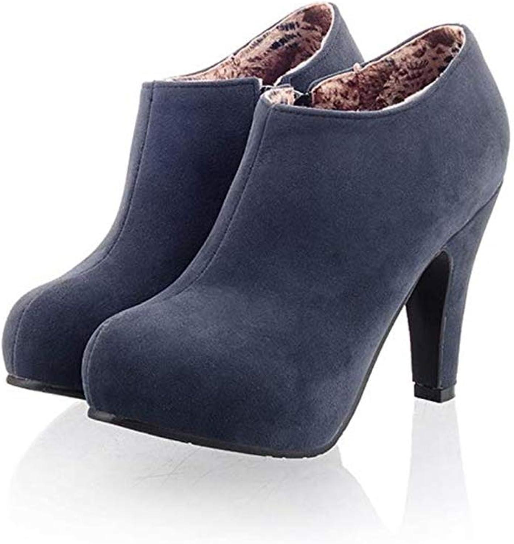 Smart.A Women's Fashion Sexy Platform Zipper Closure Dress Pumps Ankle Boots