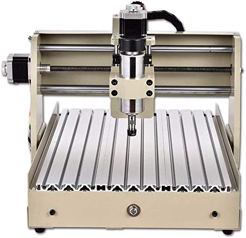 Power Milling Machines,4 Axis CNC 3040 Router Engraver 400W Desktop Engraving Drilling Milling Machine Drill Wood DIY Artwork Woodworking 3D Driller Cutting for Building, Building Model Making, PCB
