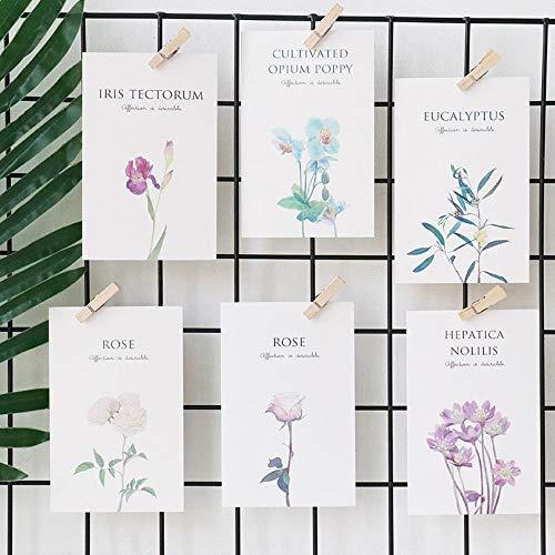 Miner 30 stuks set schattig blad plant bloem ontwerp notitie kaart mooie ansichtkaart bericht greating kaart school kantoor cadeau