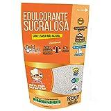DULCILIGHT Sucralosa Edulcorante Natural Envase de 200 gramos Granulado, con Fibra Vegetal Tamaño Ahorro para Reposteria. El sabor Natural del Azúcar
