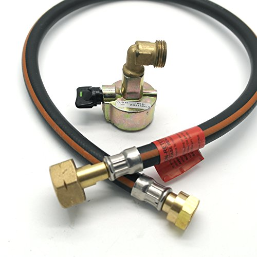 Huddersfield Gas 27mm Cylinder Adaptor & .75m (30') Caravan Pigtail Hose Kit Fits Calor Flogas