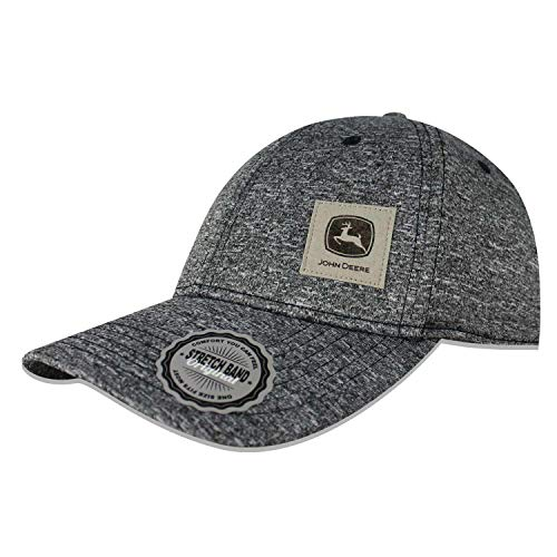 John Deere Stretch Fit/Fitted, 6 Panel Cap-Charcoal-Os