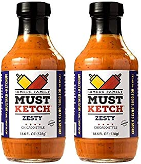 Somers Family MustKetch – Zesty Flavor - A new twist on Mustard and Ketchup! All-Natural, Non-GMO Ingredients – No Artific...