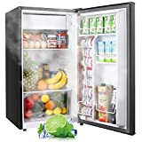 TECCPO Mini Fridge with Freezer TAMF32, 3.1 Cu.Ft, Low Noise, Energy Star, 6 Settings Temperature...