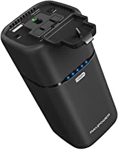 AC Outlet Power Bank RAVPower 20100mAh 65W(Max.) Built In 2-Prong AC Plug External Battery Pack Travel Charger Compatible for MacBook, Surface Pro, Dell Xps 13, Iphone 11, Iphone XS, Galaxy S9, Note 8