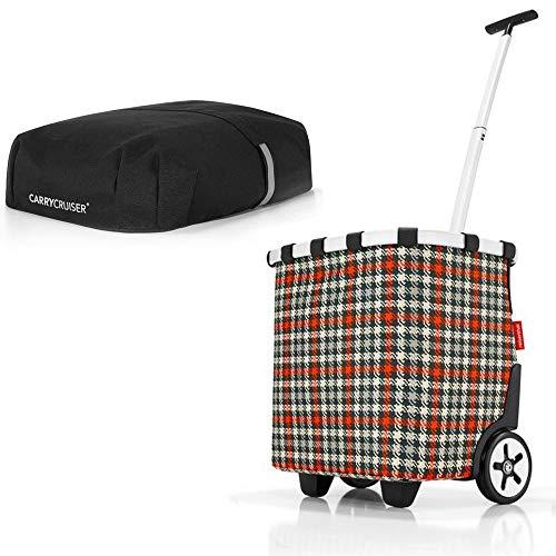 reisenthel Angebot Einkaufstrolley carrycruiser Plus gratis Cover Abdeckung und Sichtschutz! (Glencheck red)