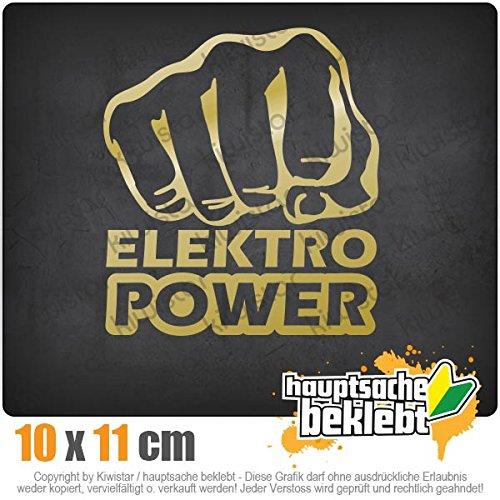 Kiwistar Elektro Power Faust Schlag 10 x 11 cm IN 15 Farben - Neon + Chrom! Sticker Aufkleber