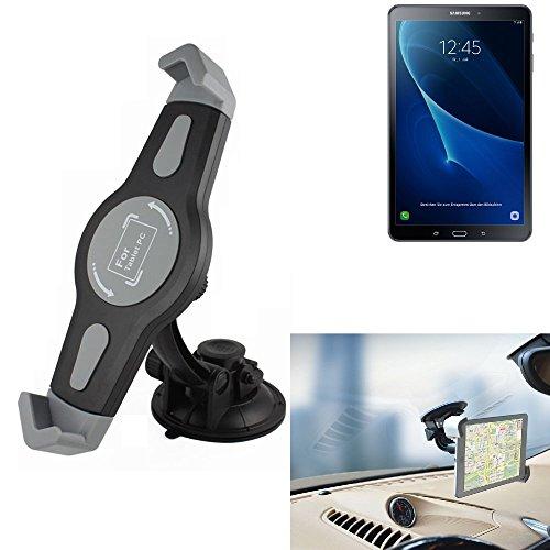 K-S-Trade Scheiben Halterung Kompatibel Mit Samsung Galaxy Tab A 10.1 (2016) KFZ Tablet Saugnapf Auto Halterung Windschutzscheibe Holder Halter Scheibenhalterung Autohalterung