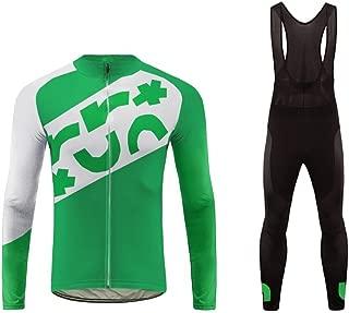 Uglyfrog Mens Thermodream Cycling Jersey +Winter Thermal Padded Bib Tights Combo Set