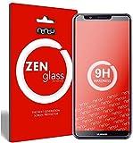 ZenGlass [2 Stück Flexible Glas-Folie kompatibel mit Huawei Y7 2018 Panzerfolie I Bildschirm-Schutzfolie 9H I (Kleiner Als Das Gewölbte Bildschirm)
