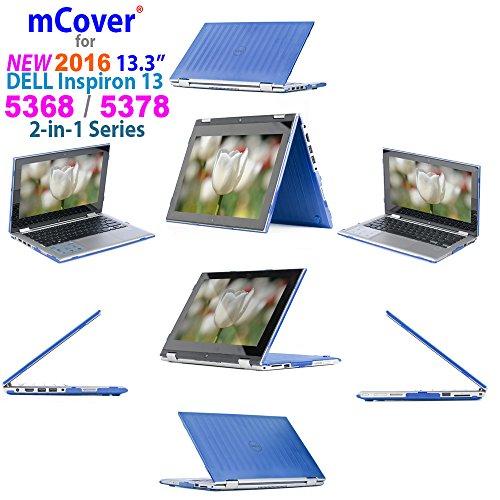 mCover Carcasa Dura/Fundas duras Solo para DELL Inspiron 13 5000 (5368/5378) Serie 2 en 1 Portátil (Azul 5368/5378)