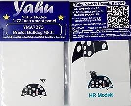 Yahu Model 1:72 Bristol Bulldog Mk.II Color Instrument Panel for HR #YMA7273