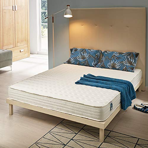 NATURALEX | Matelas 140x190 cm Soft Sensation | Structure en Mousse A Mémoire De Forme et Aero Latex Bi-Densité | Confort Unique | Aération Optimale | 7 Zones | Hypoallergénique | Ergonomique