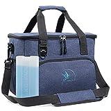 Obics Kühltasche klein 20l Lunchtasche faltbar für Herren Isoliertasche blau & Picknicktasche für die Arbeit Blaue Thermotasche und Essenstasche für unterwegs & Auto mit Kühlakku & Flaschenöffner Blau